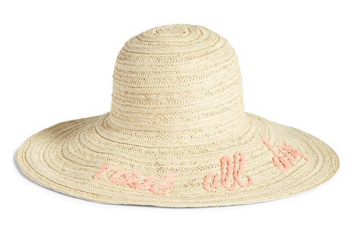 Wordplay Floppy Straw Hat